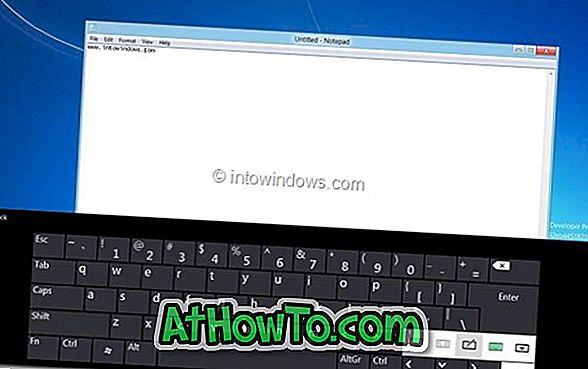 So aktivieren Sie die Touch-Tastatur auf Windows 8 / 8.1-PCs