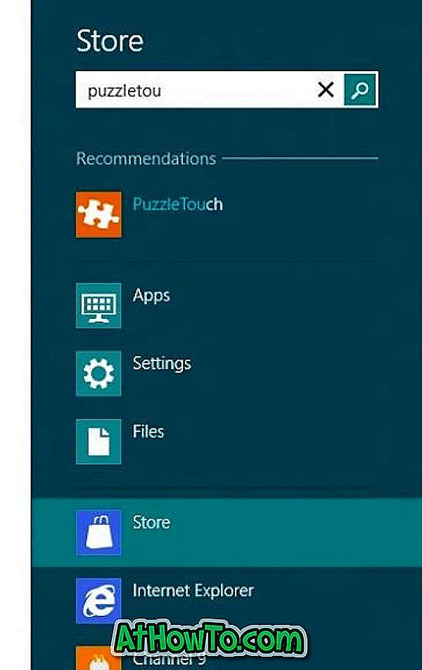 Como pesquisar no Windows 8 App Store