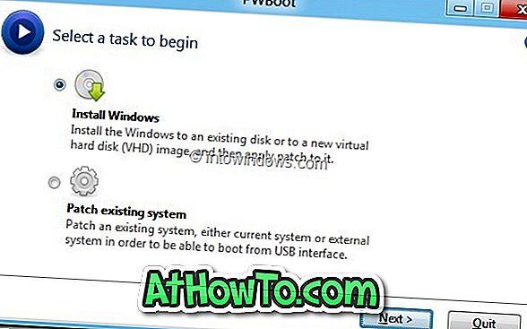 Kako zagnati Windows 8 iz VHD brez uporabe ukaznega poziva