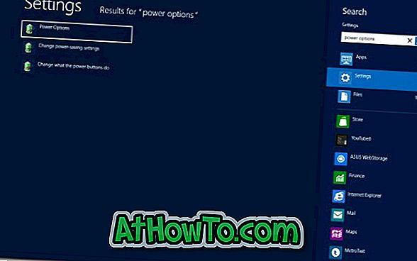 Kā iespējot / atspējot ātro palaišanu sistēmā Windows 8