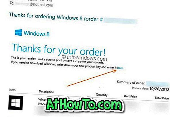 Lejupielādējiet Windows 8 ISO no Microsoft, izmantojot produkta atslēgu
