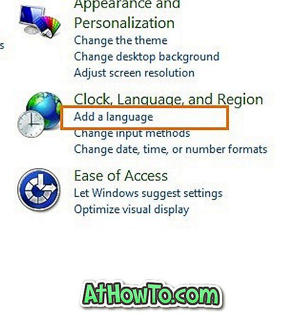 Atinstalēt vai noņemt Windows 8 valodas pakotnes