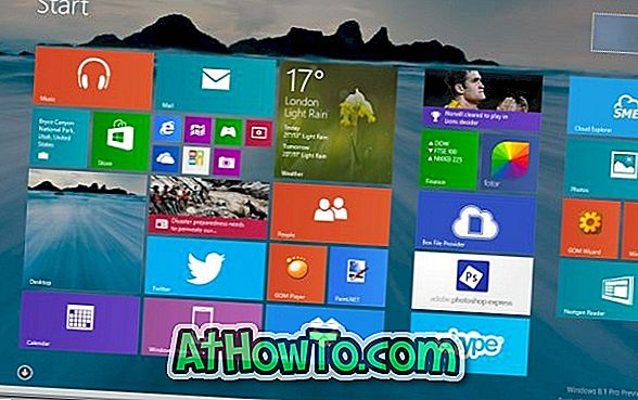 Slik angir du skrivebordsbakgrunnsbilde som startskjermbakgrunn i Windows 8.1