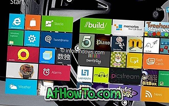 Kā nomainīt Windows 8 sākuma ekrāna fonu