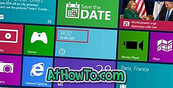 Ur til Windows 8 Startskærm