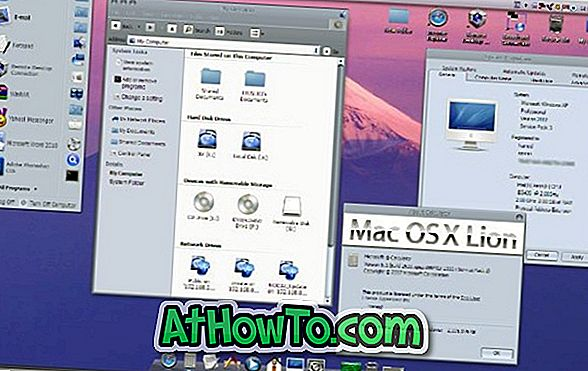 Mac OS X Lion Transformation Pack til XP